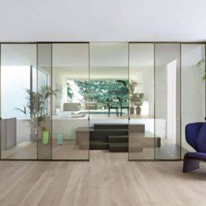 Glasitalia sherazade design glazen schuifdeuren