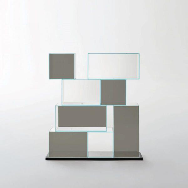 Design-Gekleurde-Transparante-Wandmeubel-Italiaanse-Boekenkast-GlasItalia-Quantum