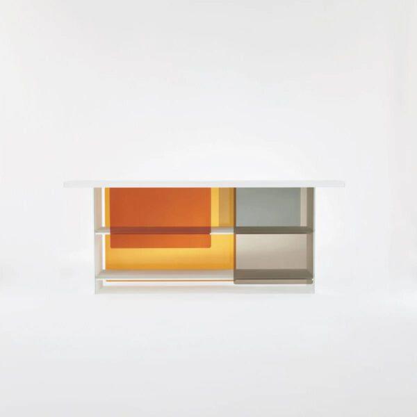 Italiaanse-Glazen-Luxe-Design-Moderne-Boekenkast-Transparante-Gekleurde-GlasItalia