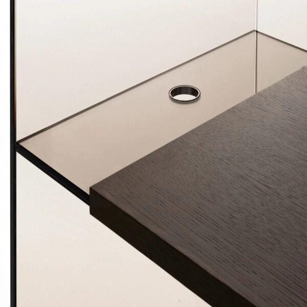 Moderne-Italiaanse-Rookglas-Glazen-Boekenkast-Bureau-Diapositive-GlasItalia