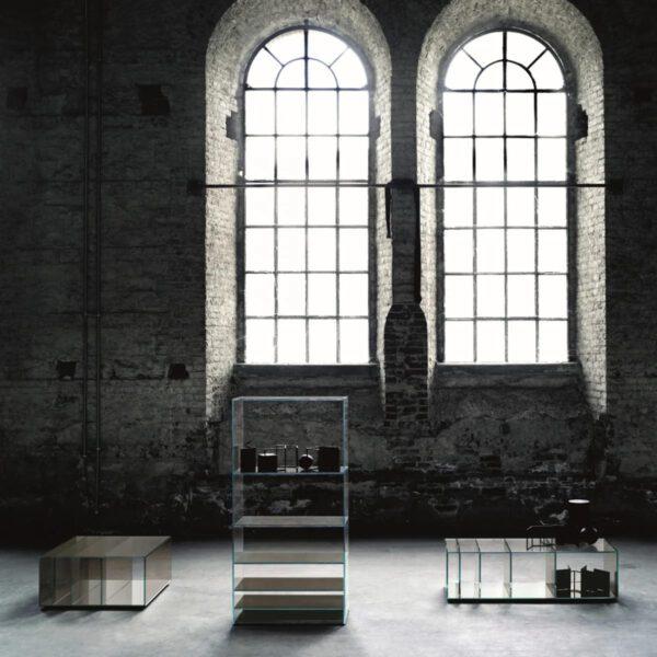 Rookglas-Glazen-Italiaanse-Luxe-Moderne-Boekenkast-DeapSea-GlasItalia