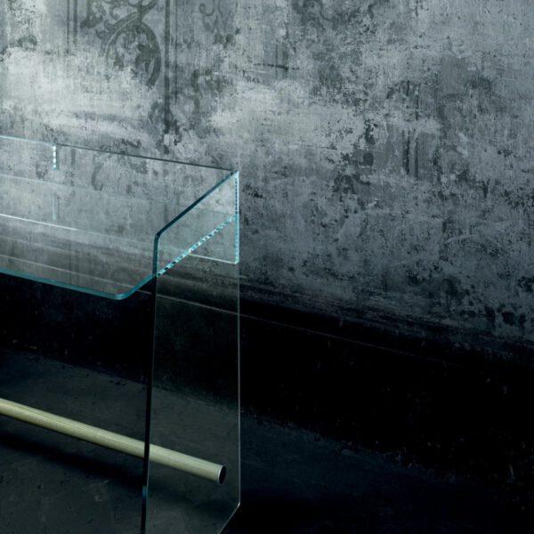 Pirandello-glasitalia-italiaanse-bureau-makeup-tafel-transparante-glazen-luxe-moderne-design
