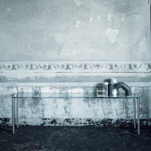 Glasitalia design tafel Steel